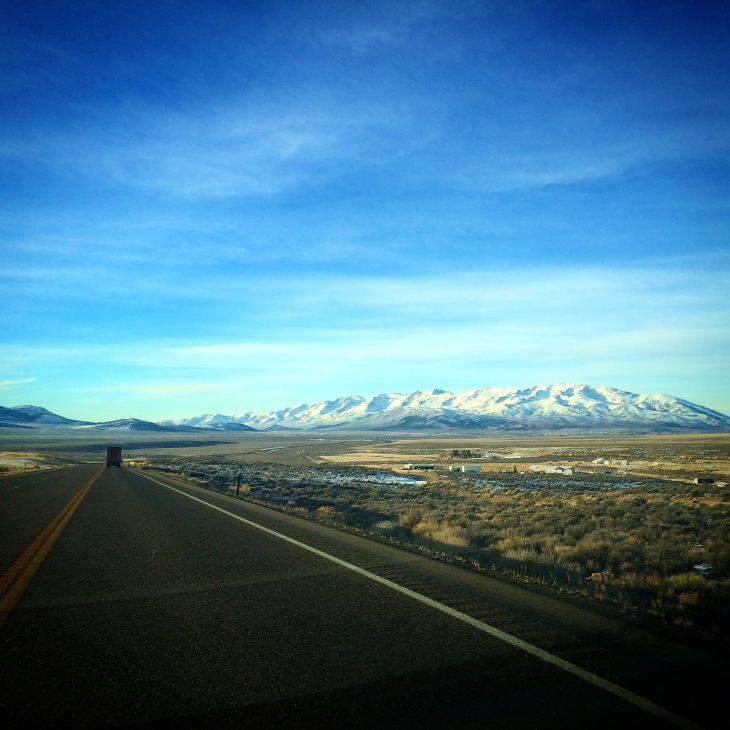 On the road through Nevada. This is the first time I've been on this road. Who knew Nevada was so beautiful?